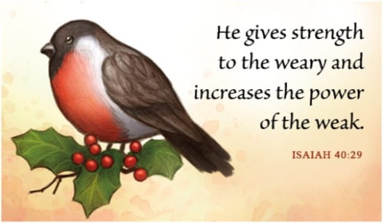 He Gives Strength ecard, online card