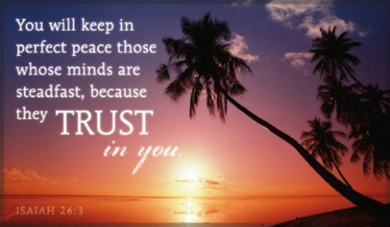 Isaiah 26:3 ecard, online card