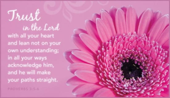 Trust in the Lord ecard, online card