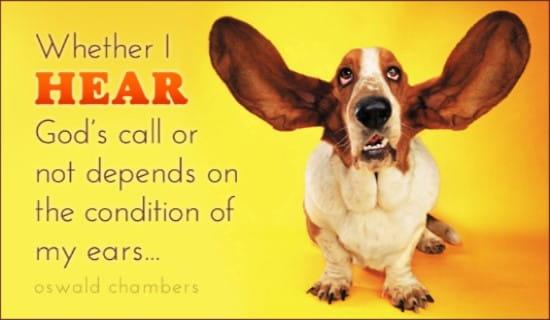 Hear God's Call ecard, online card