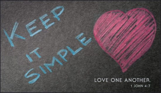 Keep it Simple ecard, online card
