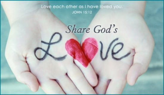 Share God's Love ecard, online card
