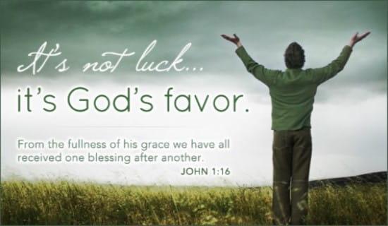 God's Favor ecard, online card
