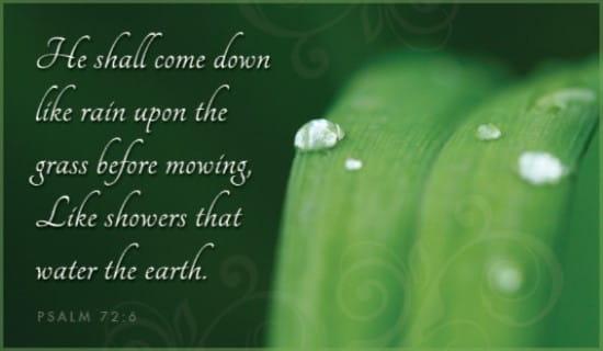 Psalm 72:6 ecard, online card