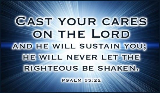 Psalm 55:22 ecard, online card
