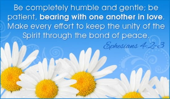 Ephesians 4:2-3 ecard, online card