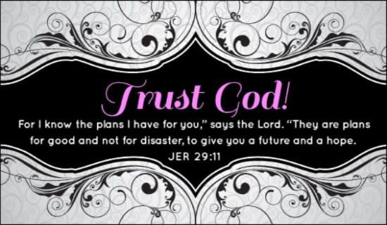 Trust God ecard, online card