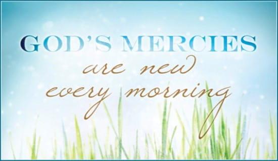 God's Mercies ecard, online card