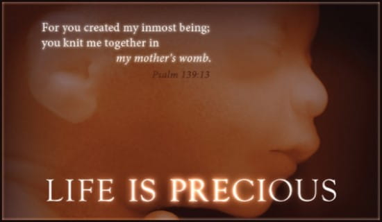 Life is Precious ecard, online card
