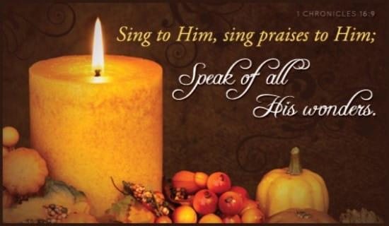 Sing Praise ecard, online card