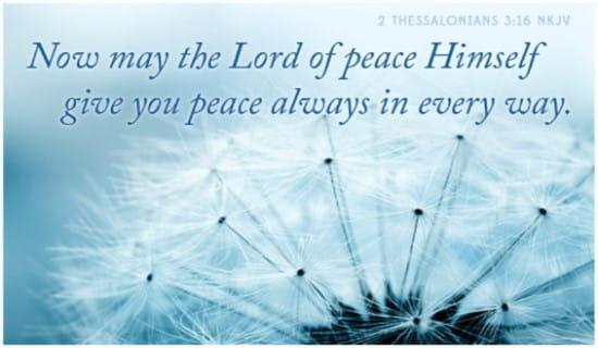 2 Thessalonians 3:16 NKJV ecard, online card