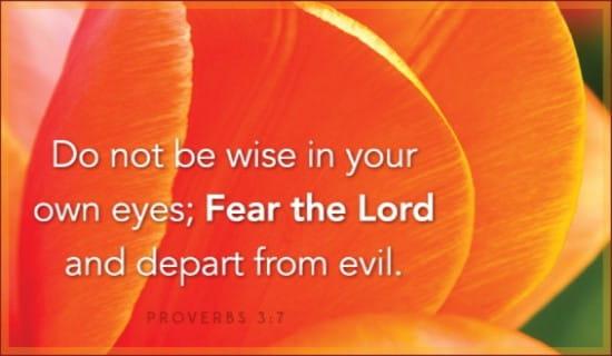 Proverbs 3:7 ecard, online card
