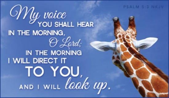 Psalm 5:3 NKJV ecard, online card