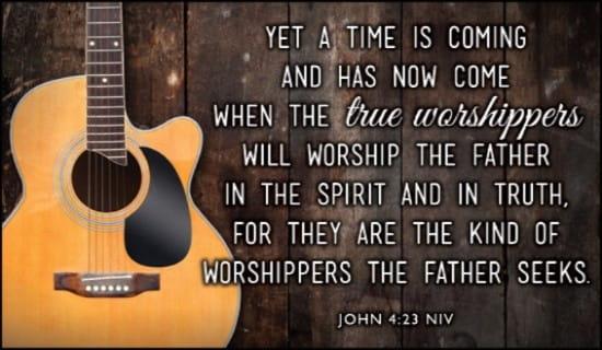 John 4:23 NIV ecard, online card