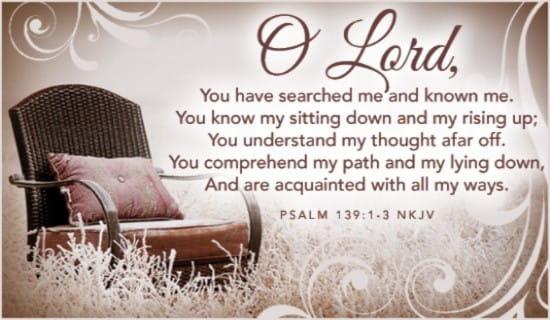 Psalm 139:1-3 NKJV ecard, online card