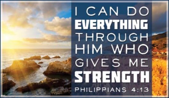Philipians 4:13 ecard, online card