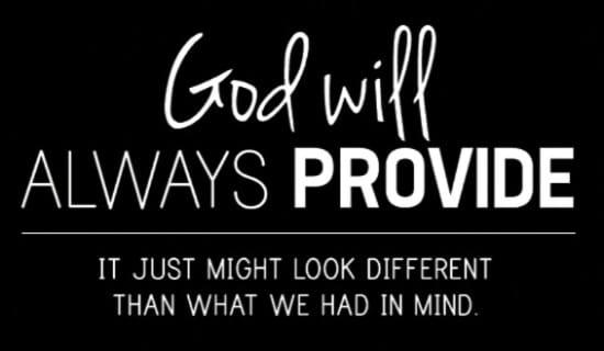 God Will Provide ecard, online card