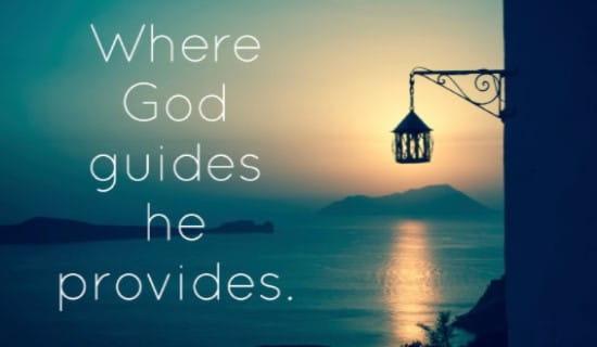 God Guides ecard, online card