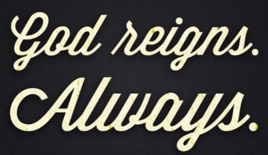God Reigns ecard, online card