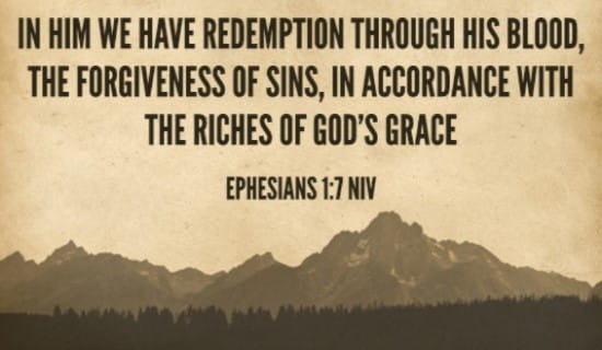 Ephesians 1:7 NIV ecard, online card