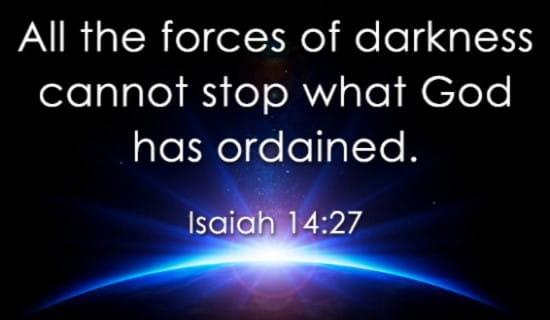 Isaiah 14:27 ecard, online card