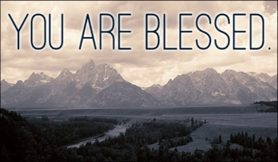 You Are Blessed ecard, online card