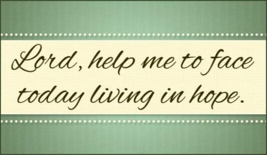 Live in Hope ecard, online card