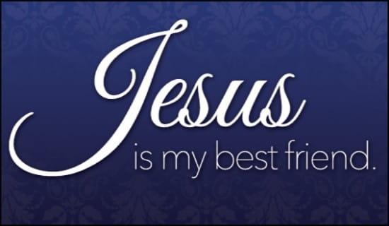 Jesus Best Friend ecard, online card