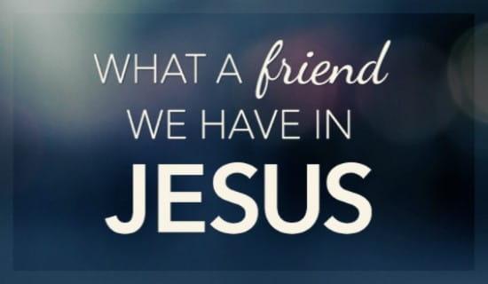 Friend In Jesus ecard, online card