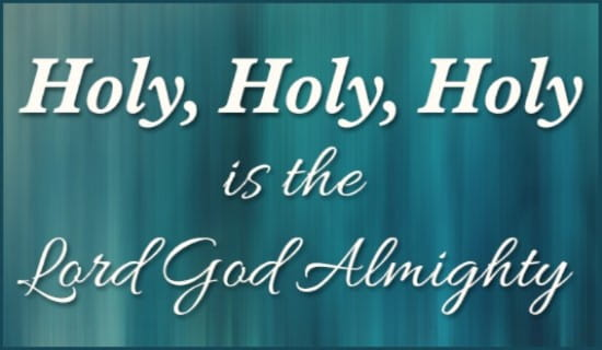 Holy is the Lord ecard, online card
