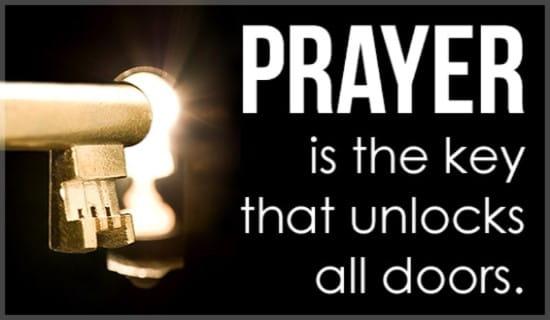 Prayer Unlocks Doors ecard, online card
