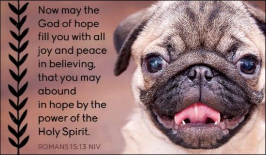 Romans 15:13 ecard, online card