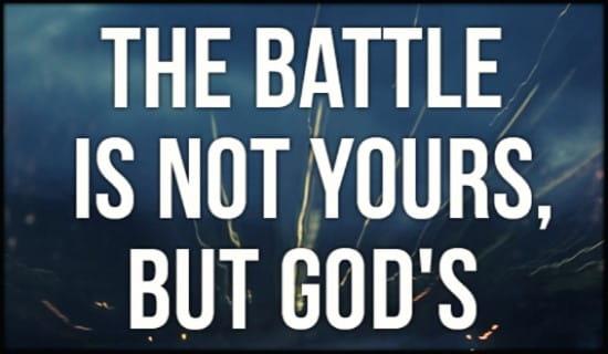 God's Battle ecard, online card