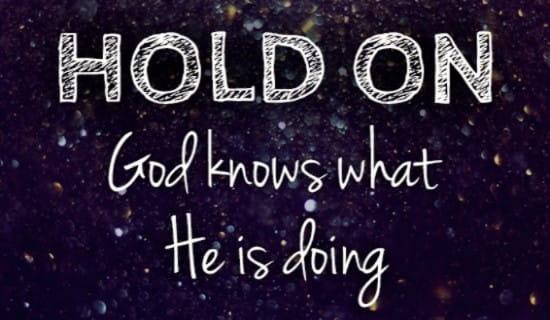 God Knows ecard, online card