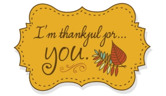 Thankful for You ecard, online card