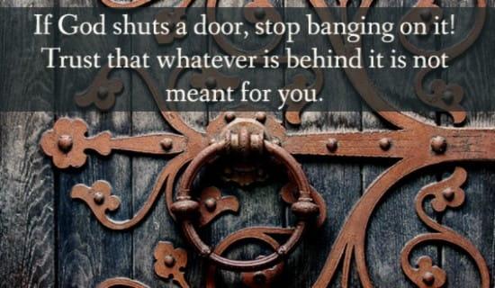 God Shuts Door ecard, online card