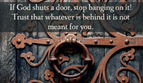 God Shuts Door ecard, online card