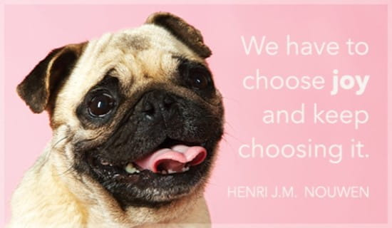 Choose Joy ecard, online card