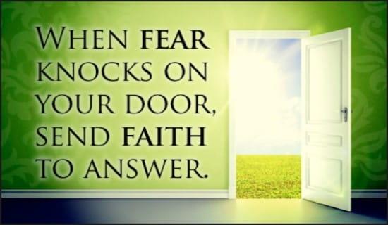 Fear and Faith ecard, online card