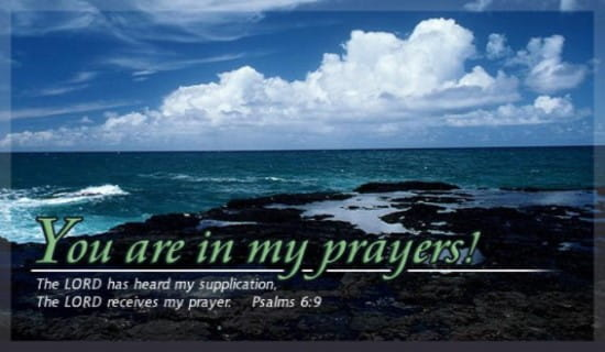 In My Prayer ecard, online card