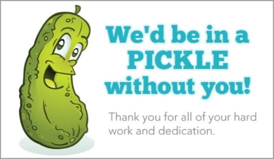In A Pickle ecard, online card