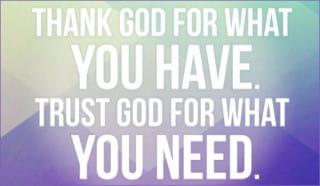 Thank God Trust God ecard, online card