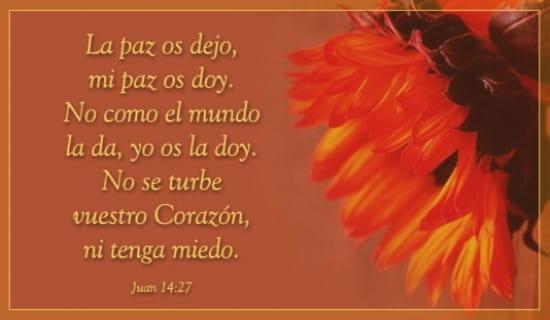 Juan 14:27 ecard, online card