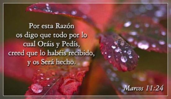 Marcos 11:24 ecard, online card