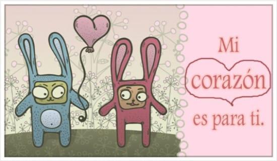 Mi corazón es para ti. ecard, online card