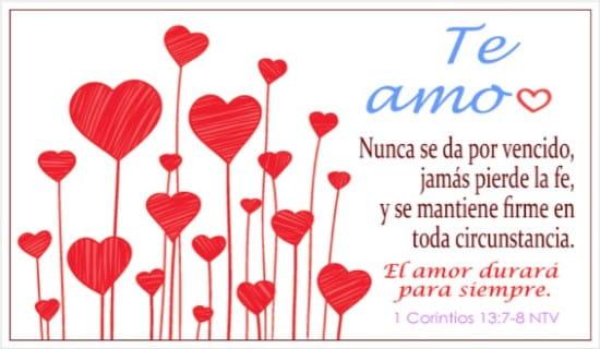 El amor durará para siempre ecard, online card