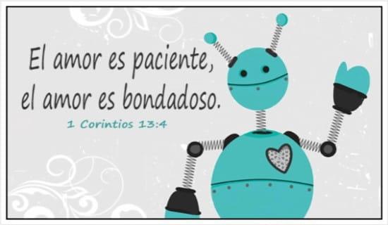 El amor es paciente, el amor es bondadoso ecard, online card