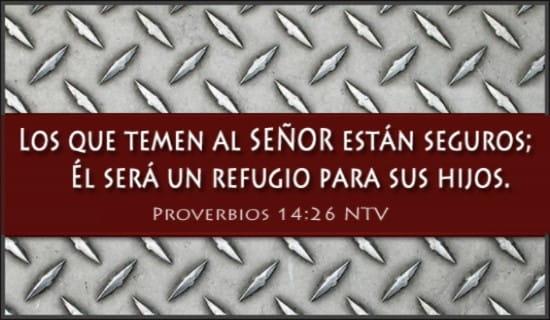 Proverbios 14:26 NTV ecard, online card