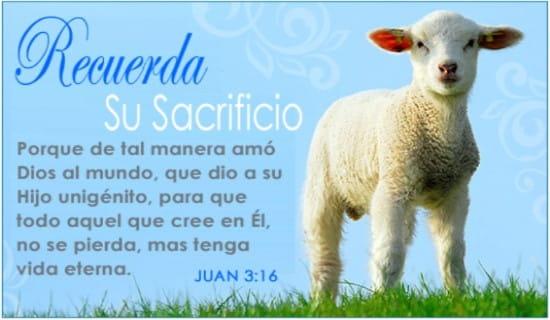 Recuerda Su Sacrificio ecard, online card