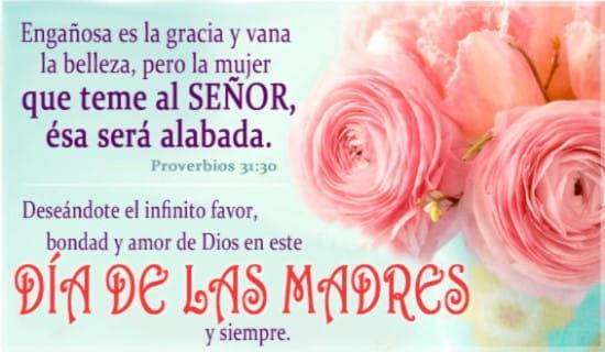 Deseándote el infinito favor, bondad y amor de Dios  ecard, online card